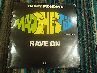 """Happy Mondays,Madchester Rave On,vinyl 12"""" EP 1989 Factory(FAC 242)"""