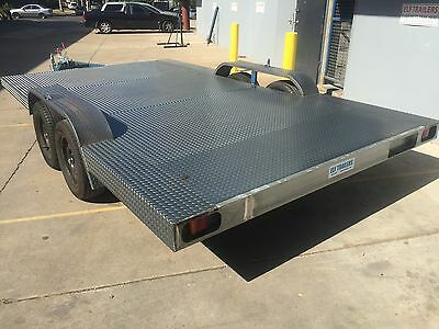 New BUDGET Car Trailer Carrier Tandem extra wide axle 14X8FT 2T USE4 TINY HOUSE