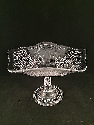 "Scalloped Footed Glass Bowl/Dish 8-3/4"" Diameter 6-1/2"" Tall"