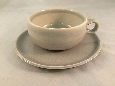 Gray Russel Wright Steubenville Cup & Saucer Set