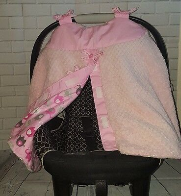 Brand-New  Handmade Baby Girls Infant Car Seat Canopy-Cover