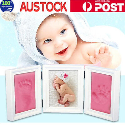 DIY 3D Baby Hand Foot Print Casting Kit with Shadow Box Baby Shower Gift
