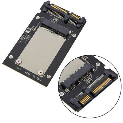 "Mini pcie PCI-E mSATA SSD to 2.5"" SATA Convertor mSATA-SATA Adapter Card Black"