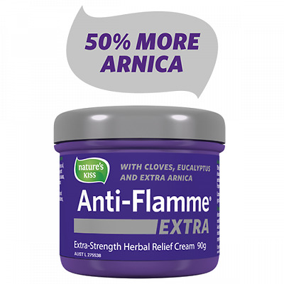 NEW Nature's Kiss Anti-Flamme EXTRA 90g Herbal Pain Relief Cream