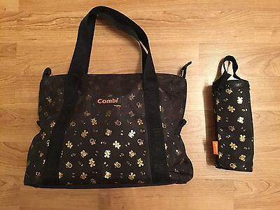 Combi Baby Diaper Nappy Travel Bag Insulated Bottle Warmer Waterproof Compartmt