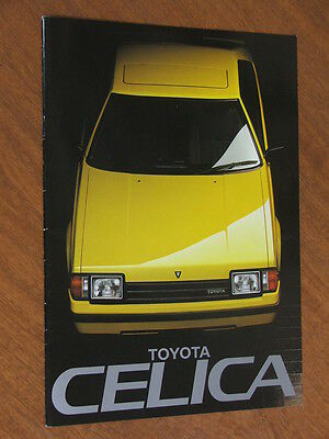 1983 Toyota Celica Liftback and Coupe original 16 page brochure