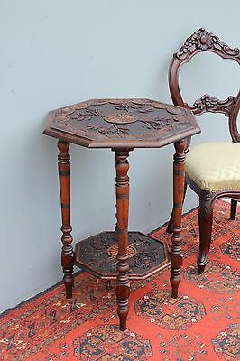 Antique French carved table. Oak.