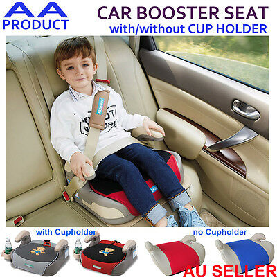 Car Booster Seat Safety Chair Pad Cushion for Child Kid with/No Cup Holder