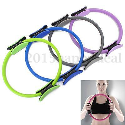Pilates Ring Circle Resistance Exercise Workout Fitness GYM Yoga Ring Dual Band