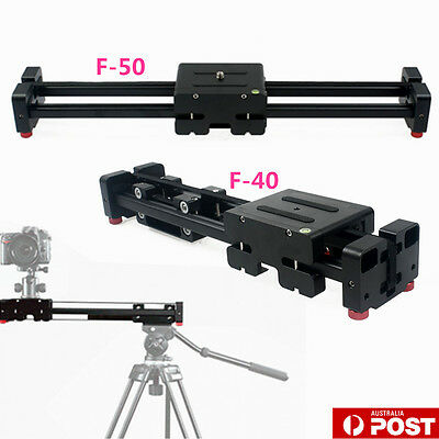 F-40/F-50 Video Rail Dolly Track Slider Stabilizer For DSLR Camera Camcorder NEW