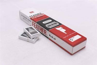 100 FEATHER MADE IN JAPAN Hi-Stainless Platinum Double Edge Razor Blades