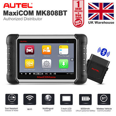 Autel MK808BT Bluetooth OBD2 Scanner DPF ABS SRS Airbag EPB Oil Reset Check Tool