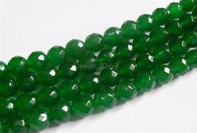 """6mm Natural Emerald Faceted Loose Beads Gemstone 15""""AAA"""