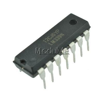 10pcs IC LM339 LM339N DIP LOW POWER Quad Voltage Comparator NEW TOP MO