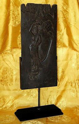 """Great 16th Old Antique Nepal Tibet Carved Wooden Statue""""Dancer"""" 23"""" - Museum"""