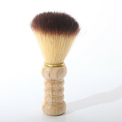 Durable Artificial Fiber Shave Shaving Razor Brush Wood Handle Mustache Brushes