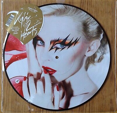 "Kylie Minogue  2 Hearts  2007 UK 12"" Remixes Picture Disc   N.Mint & Sealed"