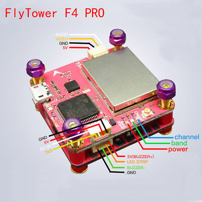 FlyTower F4 Flight Controller Board Integrated OSD 40A 4 in 1 ESC for FPV Drone