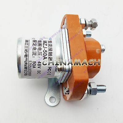 New 48V MZJ-50A New Electric Vehicle DC Contactor 50A Contactor Solenoid