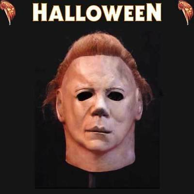 Michael Myers Halloween 2 II Mask Deluxe Officially Licensed Trick or Treat
