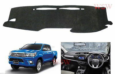 GREY DASH MAT to Suit NEW TOYOTA Hilux 2016-ON SR5 SR Workmate MY16 2017 17 18