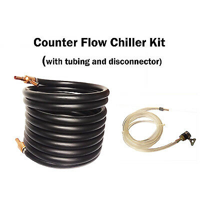 Counter Flow Copper Wort Chiller Kit /Heat Exchanger for All-Grain Brewing