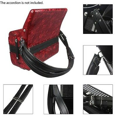 Accordion Strap Adjustable Bass Soft Leather Durable Deluxe Shoulder Hand Straps