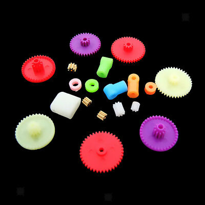 Assorted Teeth Plastic Gear Wheel for Toy Car Motor Shaft Model Crafts