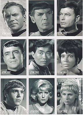 Star Trek The Original Series 40Th Anniversary Portraits Insert Set Pt1-Pt18 18