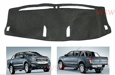 Coal Dash Mat Dashmat Carpet Cover Fit Ford Ranger Mk2 Facelift Wildtrak 2016 17