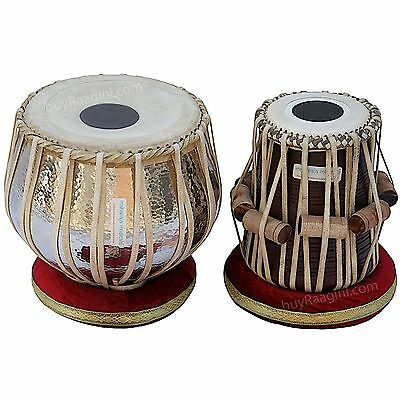 Hammer Tabla Drum Set, 4½ Kg Copper Bayan, Finest Dayan with Padded Bag, Book