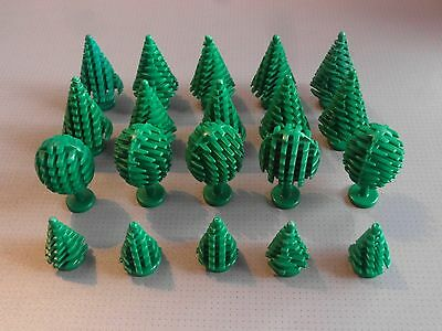 Lego - 20 Trees (10 Large, 5 Small, 5 Fruit) - Good Condition
