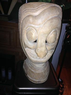 "Fabulous Asian Wood Mask 18"" Tall"