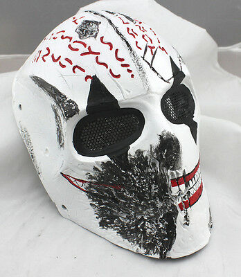 Fiber Resin Wire Mesh Eye Airsoft Paintball Full Face Protection Terror Mask 796