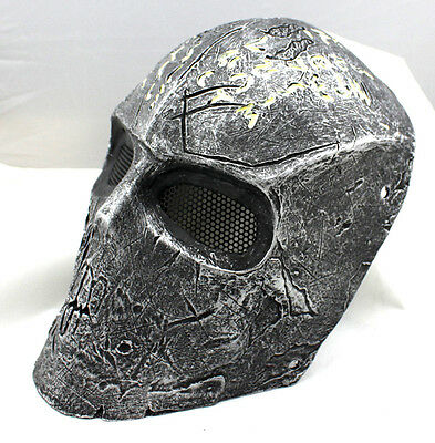 Black  Fiber Resin Wire Mesh Eye Airsoft Paintball Full Face Protection Mask