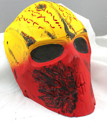Fiber Resin Wire Mesh Eye Airsoft Paintball Full Face Protection Terror Mask