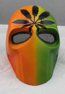 Color Durable Fiber Resin Mesh Eye Airsoft Paintball Full Face Protection Mask