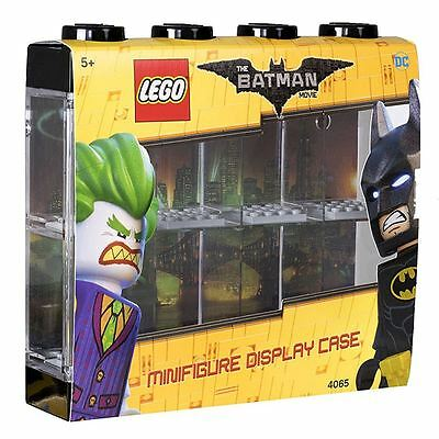 LEGO Batman Minifigure Display Case for 8 Minifigures Stackable Container, Black