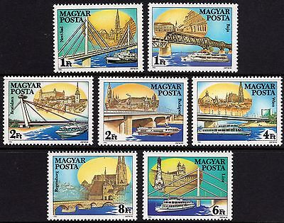 Hungary 1985 Bridges & Ships Over the River Danube Unmounted Mint FREEPOST
