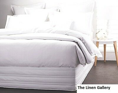 New White Long Single Bed Size Quilted Valance Easy Fit 91 x 203cm Stretch Over