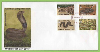 Swaziland 2005 Snakes First Day Cover