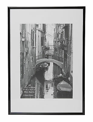 A3MARBL Black Backloader A3 (30x42cm) Non Glass Certificate Picture Photo Frame