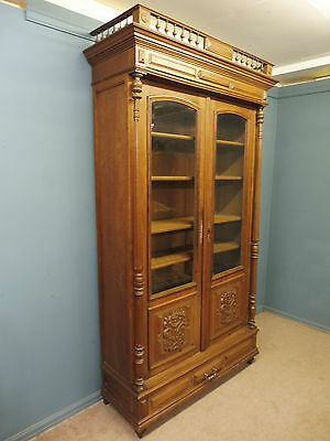 Large Antique French Oak Country House  Bookcase Circa 1880- 1900