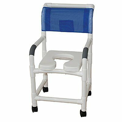 Shower Chair Soft Seat Rust Proof Threaded Stem Casters Royal Blue Forest Green