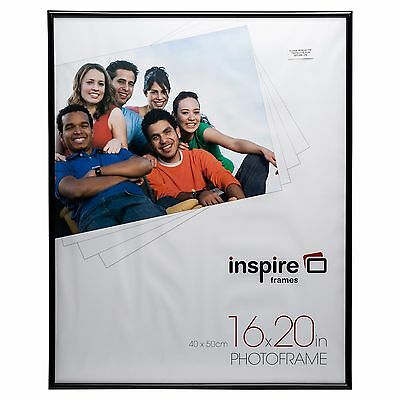 "BLR20BK Black Backloader 16x20"" (40x50cm) plexi Certificate Photo Picture Frame"