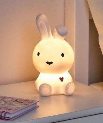 Bnib New Bunny Rabbit Led Table Night Lamp Light Kids Girls Boys Bedroom Bedside