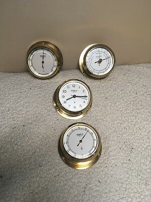 Wempe  Chronometerwerke Hamburg Nautical Brass 4 Piece Lot