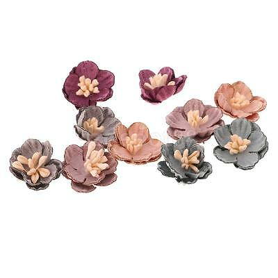 10x Assorted Color Flower Embellishments for Headband Clothes Decoration #2
