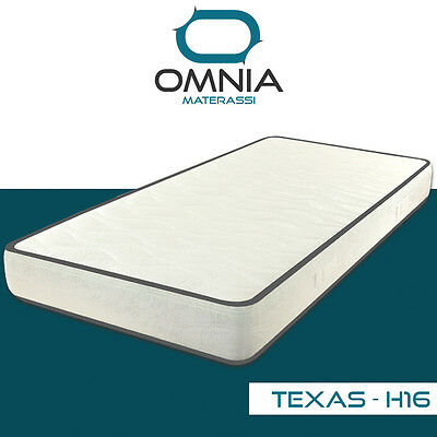 Materasso Singolo 80X190 H 16 Cm In Waterfoam Non Sfoderabile Ortopedico Texas