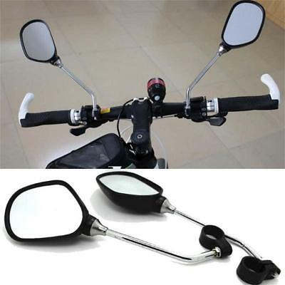 1 Pair Cycling Bicycle Handlebar Flexible Safety Rear View Rearview Mirrors
